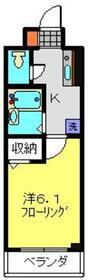 第3三基ビル3階Fの間取り画像