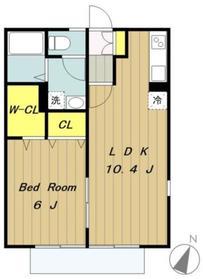 リバーサイドエル2階Fの間取り画像