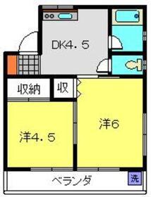 鈴木マンション3階Fの間取り画像