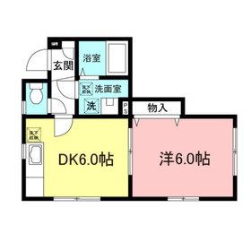 パークサイド駒沢1階Fの間取り画像