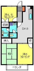 サマックス広瀬ハイツB1階Fの間取り画像