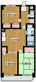 グリーンパレス・ナカミチ6階Fの間取り画像