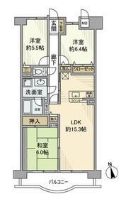 厚木駅 車19分6.1キロ7階Fの間取り画像