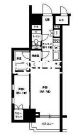 神田駅 徒歩4分11階Fの間取り画像