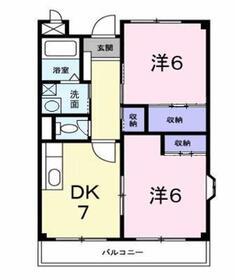 MK・ハイツ2階Fの間取り画像