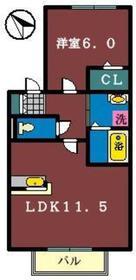 フレシール弐番館1階Fの間取り画像