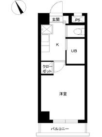 スカイコート早稲田第54階Fの間取り画像