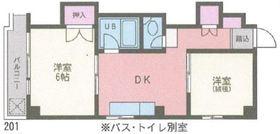 濱田ビル5階Fの間取り画像