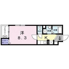 錦糸町コクーン2階Fの間取り画像