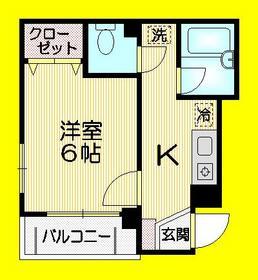 シャルム高円寺1階Fの間取り画像