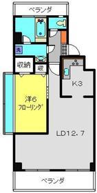 山本ビル2階Fの間取り画像