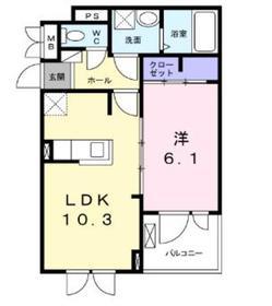 メゾンドボヌールK3階Fの間取り画像