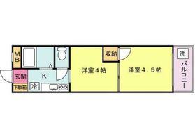 川崎駅 徒歩5分5階Fの間取り画像