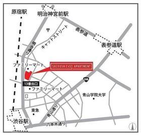 SHIBUYA CAST.APARTMENT案内図