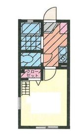 G・Aタウン鶴ヶ峰2階Fの間取り画像