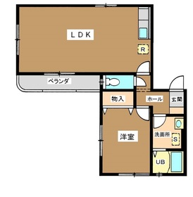 HIGH BEACH TAKANAWA2階Fの間取り画像