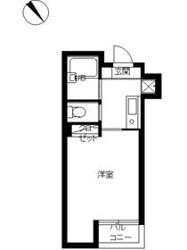スカイコート文京小石川第23階Fの間取り画像