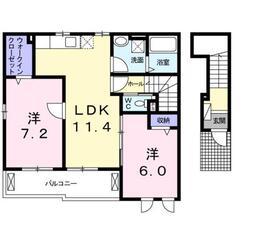 門沢橋駅 徒歩27分2階Fの間取り画像