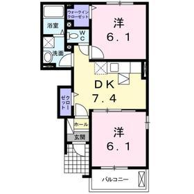 エレガント1階Fの間取り画像