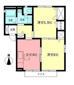 メゾン笛田Ⅱ2階Fの間取り画像