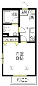 プルミエール桜1階Fの間取り画像