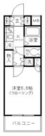 スカイコート日本橋浜町第37階Fの間取り画像