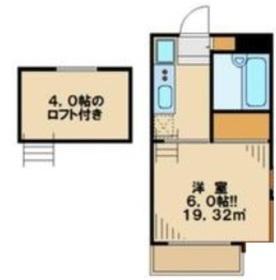 エーデルハイムII2階Fの間取り画像