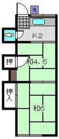板橋荘1階Fの間取り画像