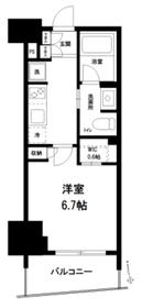 リビオ神楽坂3階Fの間取り画像