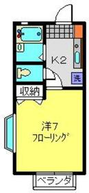 ブリックハウスOZAWA1階Fの間取り画像