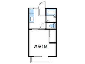 山王ハイツA2階Fの間取り画像