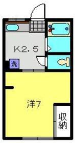 横浜駅 バス15分「釜台住宅第一」徒歩5分1階Fの間取り画像