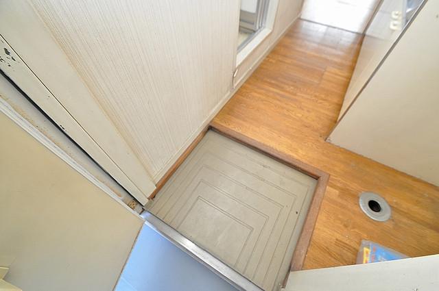エステートピアイシイ お部屋の入口には何も置かず、シンプルが一番ですね。