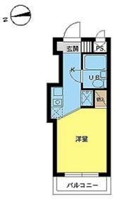 スカイコート武蔵小杉61階Fの間取り画像