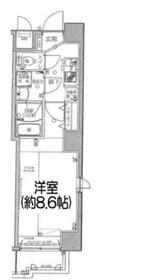 グランリーヴェル横濱三ツ沢公園6階Fの間取り画像