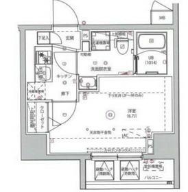 MAXIV川崎6階Fの間取り画像