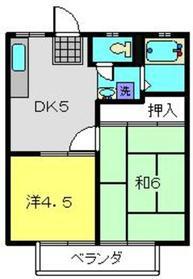 菊名駅 徒歩19分1階Fの間取り画像