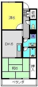 横尾マンション3階Fの間取り画像