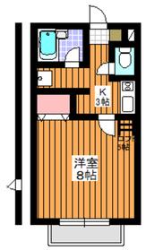 レガーロK2階Fの間取り画像