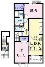 エテルノ ユキー2階Fの間取り画像