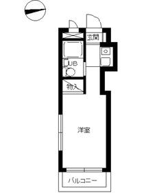 スカイコート横浜港南台2階Fの間取り画像