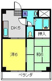 カーサ・マツダ2階Fの間取り画像