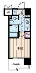 ヴェルステージ川崎5階Fの間取り画像