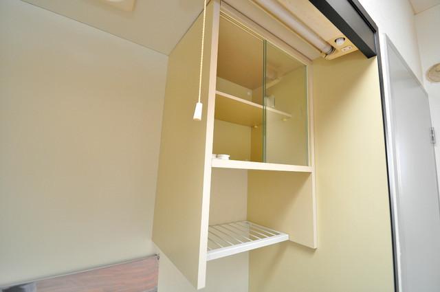 シティハイツ布施 キッチン棚も付いていて食器収納も困りませんね。