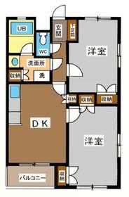 リバーピアカネコ2階Fの間取り画像