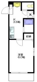メゾン西早稲田1階Fの間取り画像