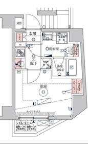 ベルシード横濱WEST7階Fの間取り画像