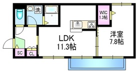 オリエント・リオ・プラトー カワハラ3階Fの間取り画像