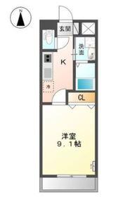 カーサひまわり Ⅱ2階Fの間取り画像