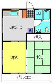 桂ハウス1階Fの間取り画像